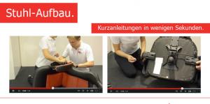 Stuhl-Aufbau